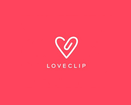 logotipos-creativos-originales-love-clip